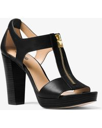 Michael Kors - Berkley Leather Platform Sandal - Lyst
