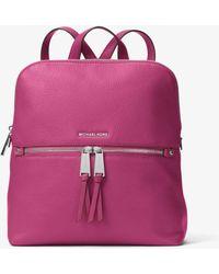 f32ae8c4c95b MICHAEL Michael Kors - Rhea Medium Slim Leather Backpack - Lyst