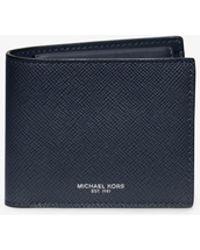 Michael Kors - Harrison Leather Billfold Wallet - Lyst
