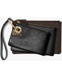 Michael Kors - Leather And Logo Pouch Trio - Lyst