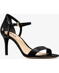 Michael Kors - Simone Patent-leather Sandal - Lyst