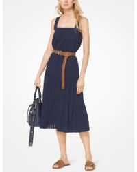 Michael Kors - Tiered Eyelet Cotton Dress - Lyst