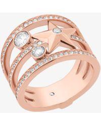 Michael Kors - Rose Gold-tone Celestial Ring - Lyst