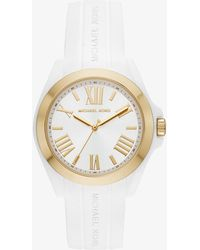 Michael Kors - Bradshaw Gold-tone And Silicone Watch - Lyst