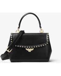 Michael Kors - Ava Extra-small Scalloped Leather Crossbody - Lyst
