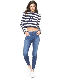 MILLY - Cropped Hoodie - Lyst