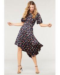 MILLY - Floral Print On Silk Cynthia Dress - Lyst
