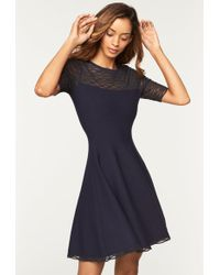 MILLY - Translucent Flare Dress - Lyst