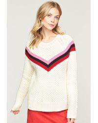 MILLY - Striped Fisherman Sweater - Lyst