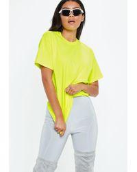 Missguided - Green Fluro Oversized T Shirt - Lyst