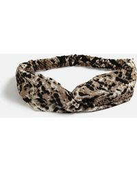 Missguided - Brown Snake Print Bandeau Headband - Lyst