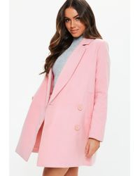 03f1f07a40861e Lyst - Missguided Sleeveless Belted Waterfall Duster Coat Cobalt ...