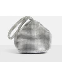 Missguided - Silver Look Beaded Wrist Bag - Lyst
