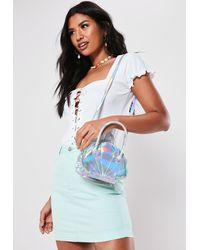 Missguided Silver Shell Cross Body Bag - Metallic