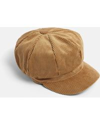 Missguided - Brown Cord Baker Boy Hat - Lyst