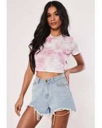 1139296483b Lyst - Missguided Yellow Girl Gang Embroidered Striped Crop Top in ...