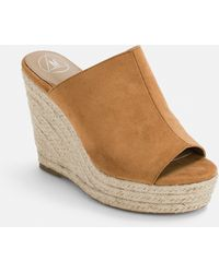 Missguided Tan Faux Suede Espadrille Wedges - Brown