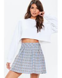 98a4c15b3b Lyst - Missguided Yellow Check Mini Skirt in Yellow