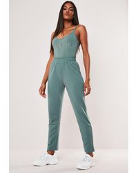 Missguided Teal Slim Joggers