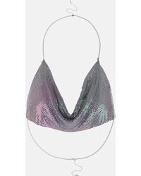 Missguided - Lilac Chainmail Bralet - Lyst