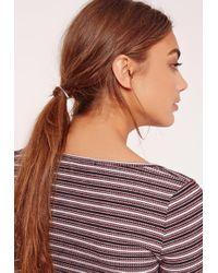 Missguided - Metal Detail Hair Tie Silver - Lyst