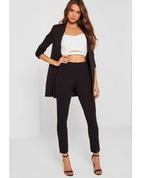 df8cd3c38 Missguided Plus Size Black Skinny Fit Cigarette Trousers in Black - Lyst