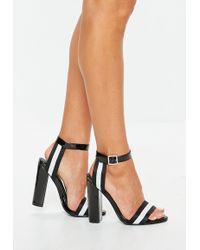 7f0d58849556 Lyst - Missguided Block Heel Gladiator Sandals White in White