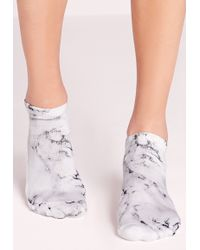 Missguided - Marble Grey Socks - Lyst