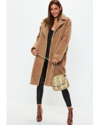 9d1349af9098d5 Missguided Sleeveless Belted Waterfall Duster Coat Camel in Natural ...