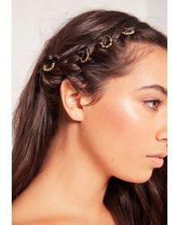 Missguided - 2 Pack Metal Plate Hair Bobble Multi - Lyst