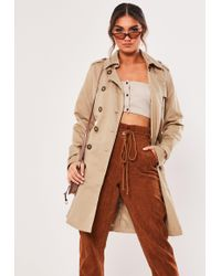 03696ed8d70957 Lyst - Missguided Sleeveless Blazer Camel in Natural