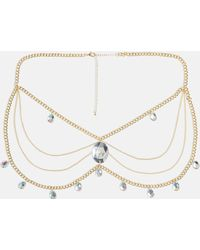 Missguided - Gold Teardrop Diamond Gold Belly Chain - Lyst