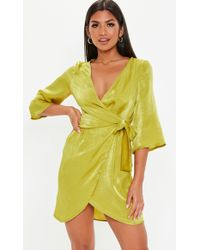 e6ecf1568c ASOS Asos Skater Dress With Cut Out Shoulder In Chartreuse Floral ...