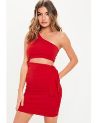 370e62cc60db Missguided White Strapless Bandage Bodycon Dress in White - Lyst