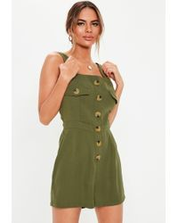 c7df5dd39d9 Lyst - Missguided Athena Utility Style Wrap Playsuit Khaki in Green
