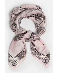 Missguided - Pink Printed Scarf - Lyst