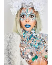 Missguided - The Gypsy Shrine Blue Snow Ice Queen Chest Piece - Lyst