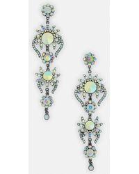 Missguided - Silver Chandelier Drop Earrings - Lyst