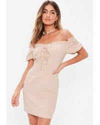 9ef541954c8 Lyst - Missguided Petite Pink Faux Suede Mini Dress in Pink - Save 9%