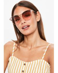 Missguided - Pink Cat Eye Sunglasses - Lyst