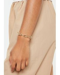 Missguided - Gold Look Chunky Chain Bracelet - Lyst
