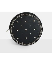 Missguided - Black Faux Leather Studded Backpack - Lyst