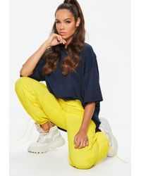 Missguided - Yellow Combat Drawcord Trousers - Lyst
