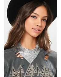 Missguided - Silver Chainmail Bandana - Lyst