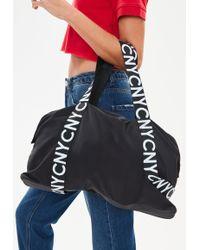 Missguided - Black Slogan Shopper Bag - Lyst