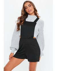 f2f98f5f1a9 Missguided Black Sequin 90 s Neck Playsuit in Black - Lyst