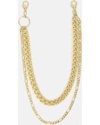 Missguided - Gold Look Chunky Multirow Wallet Chain - Lyst