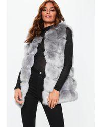 Missguided - Gray Longline Bubble Vest - Lyst