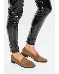 6a5305466b362c Missguided - Brown Flat Tassel Front Loafer - Lyst