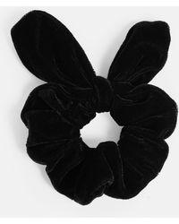 Missguided   Black Velvet Bunny Ears Scrunchie   Lyst